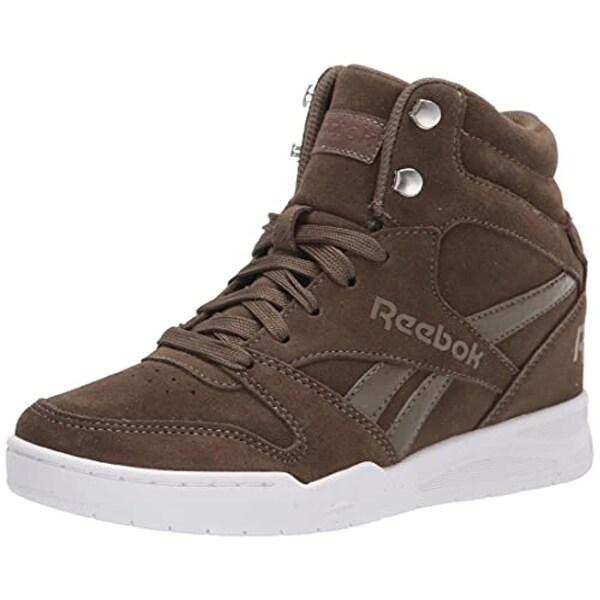 Reebok Women's BB4500 HI 2 Sneaker, Wedge Heel Army Green/White. Opens flyout.