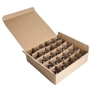 Hometown Evolution Inc G40CLBOX Case of (25) Clear G40 Globe Lights for String Light Sets with Candelabra (E12) Bases