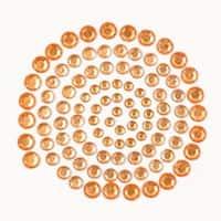 Orange - Self-Adhesive Rhinestones 100/Pkg