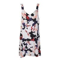 1.State White Pink Black Floral Printed A-Line Dress M