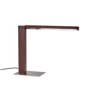"Adesso 3678 Linden 1 Light 55.5"" Tall LED Desk Lamp - Walnut"