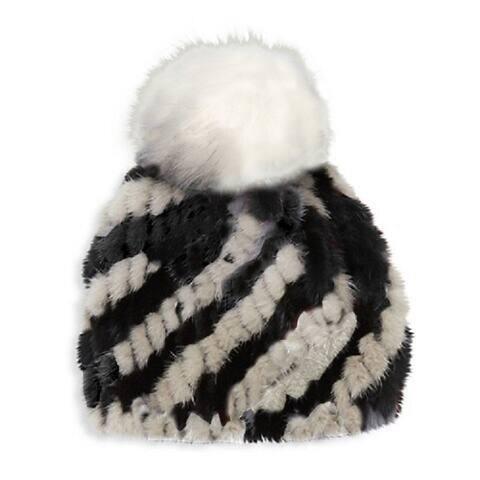 Jocelyn Womens Black White Hat One Size