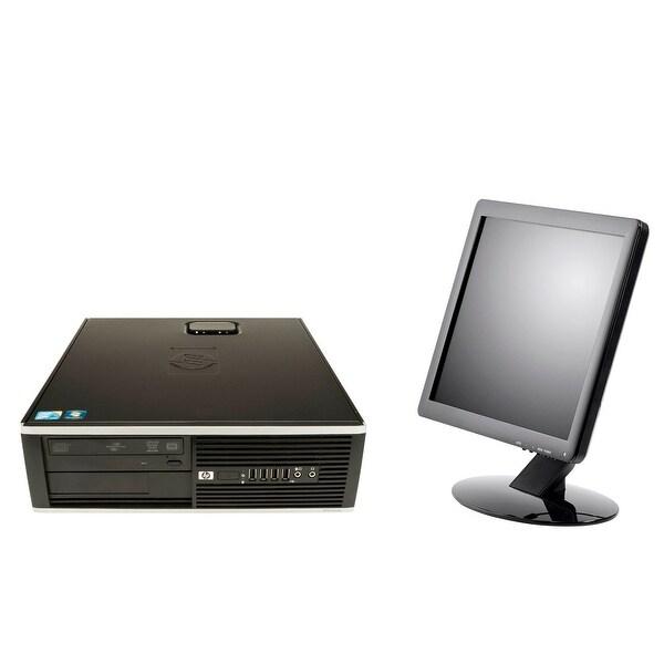 """HP 8000 USFF, intel C2D 2.33GHz, 4GB, 100GB, W10 Home, 17"""" LCD"""