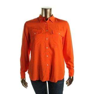 Lauren Ralph Lauren Womens Knit Long Sleeves Blouse - XL
