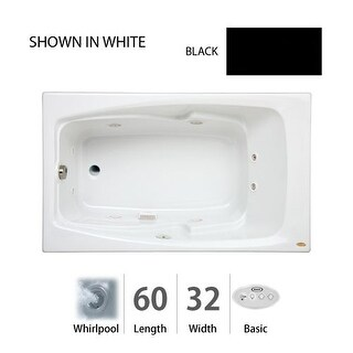 "Jacuzzi CET6032 WLR 2HX Cetra? 60"" x 32"" Comfort Whirlpool Drop In Bathtub with Left Drain, 8 Jets, Basic Controls, Heater, and"