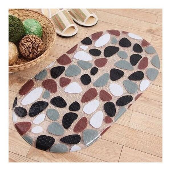 Simple Colorful Stone Carpet Ground Floor Foot Mat - grey