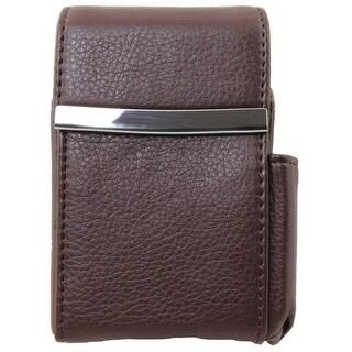 Genuine Leather Brown Fliptop Cigarette Case