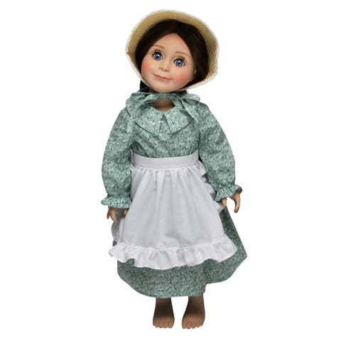 Little House On The Prairie 18 Inch Doll Clothes, Calico Dress, Bonnet, Apron Outfit Fits American Girl - fits 18 inch dolls