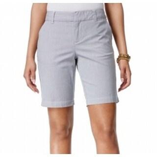 Tommy Hilfiger NEW Blue Women's Size 16 Striped Bermuda Walking Shorts
