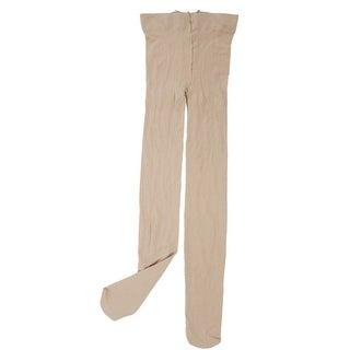 Unique Bargains Women High Rise Opaque Footed Elastic Leggings Stockings Pantyhose Khaki XS