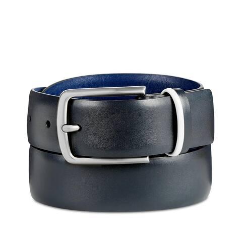 Original Penguin Men's Nappa Leather Belt Size 34 Navy