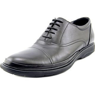 Kenneth Cole NY Mid-City Men Round Toe Leather Black Oxford