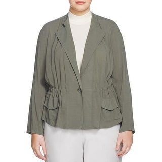 Nic + Zoe Womens Plus Jacket Crepe Long Sleeves