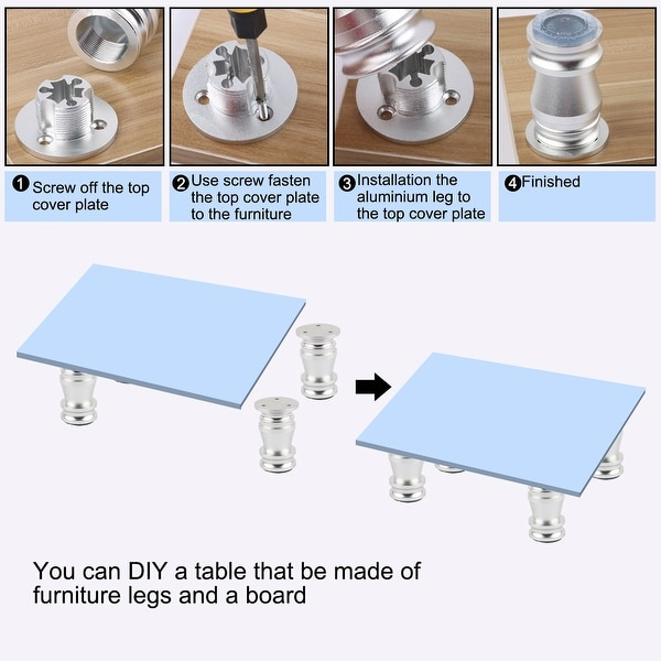 Household Cabinet Feet Solid Aluminum Cabinet Table Sofa Foot Adjustable   8C