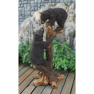 Design Toscano Climbing Cubs Black Bear Statue