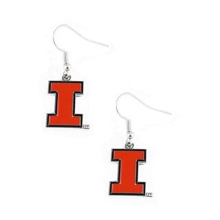 Illinois Fighting Illini Dangle Logo Earring Set NCAA Charm Gift