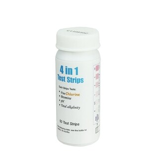 Premium 4-in-1 Water Maintenance Test Strips for Swimming Pools and Spas