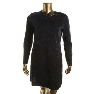 Tory Burch Womens Metallic Colorblock Sweaterdress