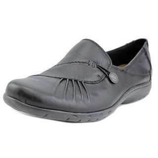 Cobb Hill Paulette Women W Moc Toe Leather Black Loafer
