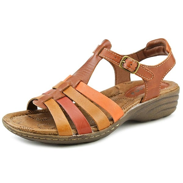 Montana Cricket Women Open-Toe Leather Tan Slingback Sandal
