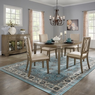 Link to Fiona Antique Taupe Wood Extending Dining Set by iNSPIRE Q Classic Similar Items in Dining Room & Bar Furniture