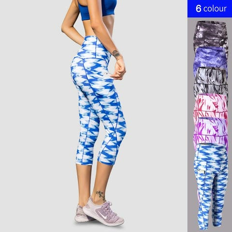 Tie Dye Activewear Pants For Yoga And High Impact Exercise