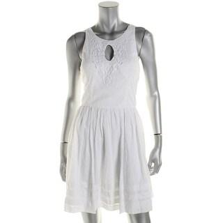 City Studio Womens Juniors Tank Dress Swiss Dot Keyhole - 11