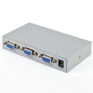 1 PC To 2 Monitors VGA SVGA Video Splitter Box 2 Port