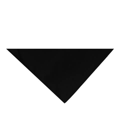 Pack of 11 Jordefano Triangle Cotton Bandanas - Solid Colors and Polyester - 30 in by 19 in by 19 in (Black)