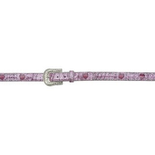 Angel Ranch Western Belt Girls Light Up Glitter Crystals Pink A5139