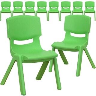 "10PK Plastic Stackable School Chair - 10.5"" Seat Height - Preschool Seating"