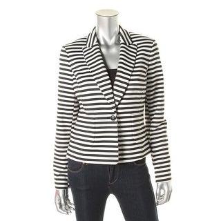 Nine West Womens Striped One Button Casual Blazer - 4