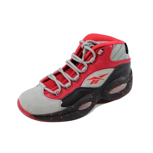 a975c52afcaf ... Men s Athletic Shoes. Reebok Men  x27 s Question Mid Stash Carbon-Red-Black  Allen
