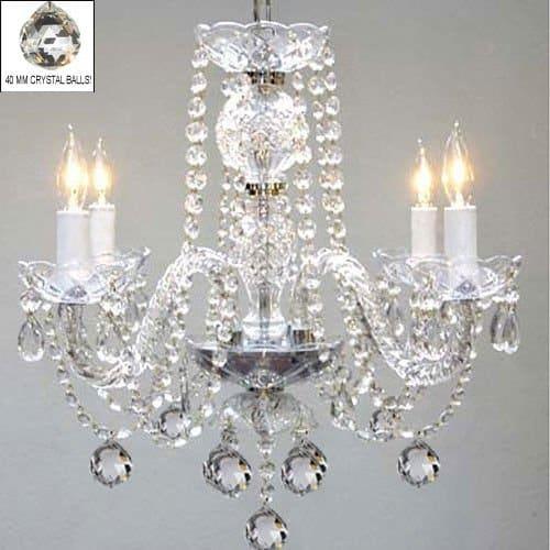 Venetian Style All Crystal Chandelier Lighting H17 x W17