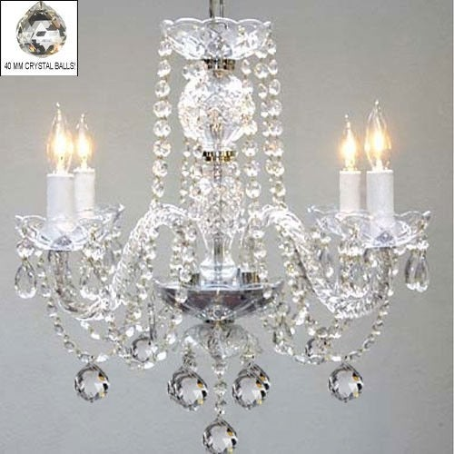 Swag Plug In Murano Venetian Style All Crystal Chandelier Lighting H17 x W17