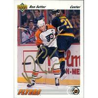 Signed Sutter Ron Philadelphia Flyers 1991 Upper Deck Hockey Card autographed