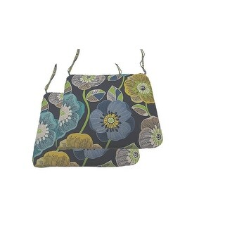 Link to Poppies Navy Indoor/Outdoor Universal Seat Cushions, Set Of 2 Similar Items in Outdoor Cushions & Pillows