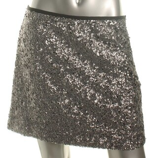 Sanctuary Womens A-Line Skirt Sequined Back Zip