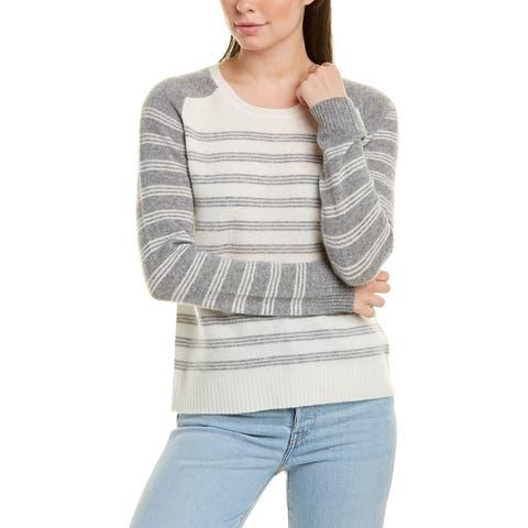 Terra Luxe Cashmere Sweater - IVORY STRIPE