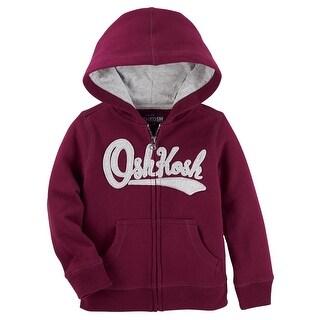 OshKosh B'gosh Baby Boys' Logo Fleece Hoodie - Maroon