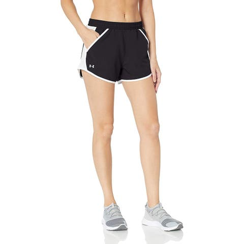 Under Armour Women's Fly By Run Short Black Reflective Size Large