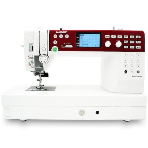 "Janome MC6650 Sewing and Quilting Machine with Bonus Bundle - 10"" x 20"" x 15"""