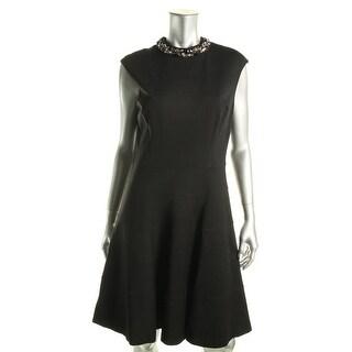 Eliza J Womens Cap Sleeves Embellished Cocktail Dress