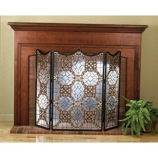 Meyda Tiffany 48092 Stained Glass / Tiffany Fireplace Screen from the Classic Fi