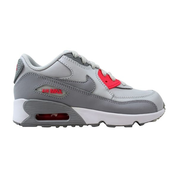 33f04957b5 Shop Nike Air Max 90 Leather Pure Platinum/Wolf Grey 833377-007 Pre ...