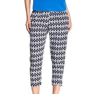 Collective Concepts NEW Blue Women's Size Small S Crop Printed Pants