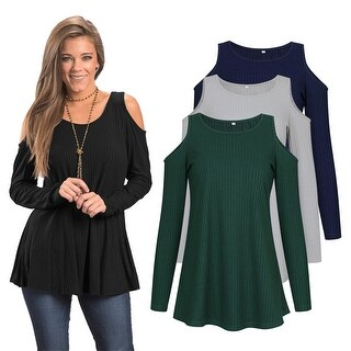 Cold Shoulder Soft Simple Tunic