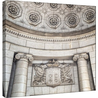 "PTM Images 9-101255  PTM Canvas Collection 12"" x 12"" - ""Union Station Wall Detail"" Giclee Shield Art Print on Canvas"