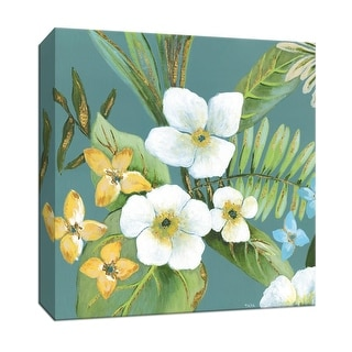 """PTM Images 9-147946  PTM Canvas Collection 12"""" x 12"""" - """"Rainforest I"""" Giclee Flowers Art Print on Canvas"""