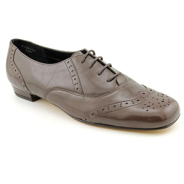 Ros Hommerson Jake Women N/S Square Toe Leather Brown Oxford